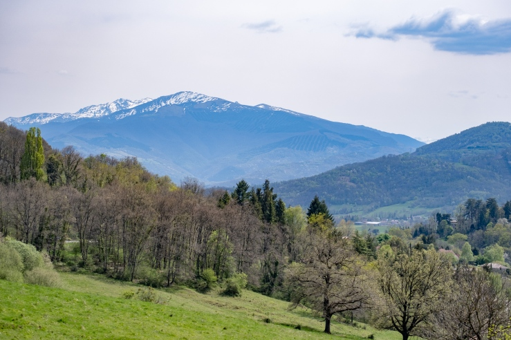 The Spanish Pyrenees mountains during a trip to Ainsa Spain.