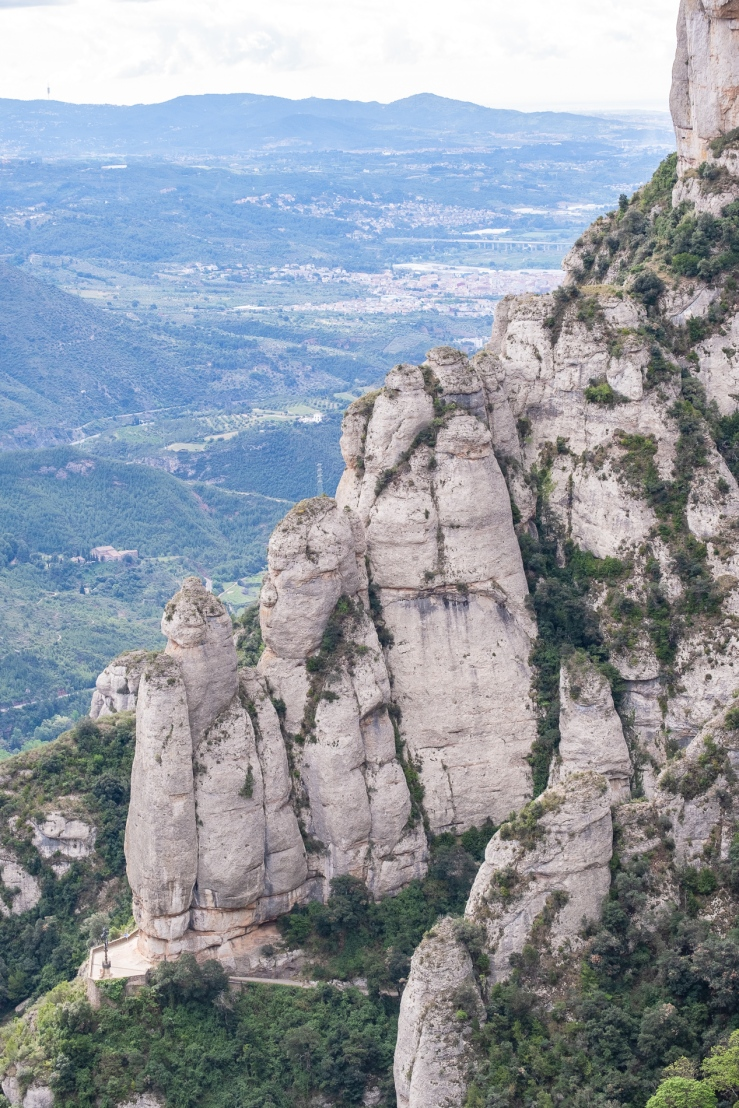 The beautiful mountains of Montserrat outside of Barcelona Spain.