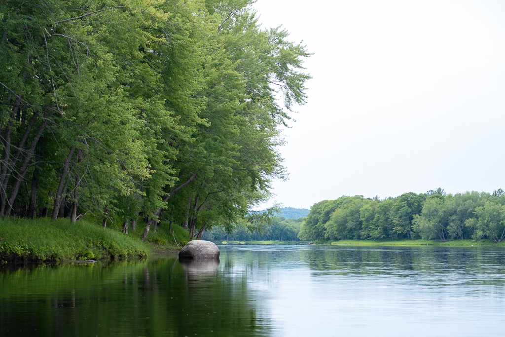 Fishing float trip down the Penoscot River in Maine